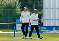 21st September 2021; Aigburth, Merseyside, England; County Championship Cricket, Lancashire versus Hampshire, Day 1; Umpires Alex Wharf and Peter Hartley