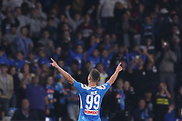 Arkadiusz Milik of Napoli celebrates after scoring a goal<br /> Napoli 30-10-2019 Stadio San Paolo <br /> Football Serie A 2019/2020 <br /> SSC Napoli - Atalanta BC<br /> Photo Cesare Purini / Insidefoto