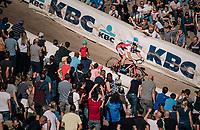 Laurens Sweeck (BEL/Era-Circus) diving into the infamous Zonhoven 'Kuil' (or 'Pit')<br /> <br /> Elite Men's Race<br /> CX Super Prestige Zonhoven 2017