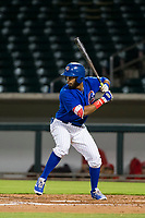 AZL Cubs right fielder Jonathan Sierra (22) at bat against the AZL Angels on August 31, 2017 at Sloan Park in Mesa, Arizona. AZL Cubs defeated the AZL Angels 9-2. (Zachary Lucy/Four Seam Images)