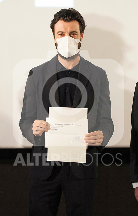 Spanish actor Javier Rey announces the films that aspire to represent Spain at the 93rd edition of the Oscars. October 6, 2020. (ALTERPHOTOS/Ricardo Blanco)