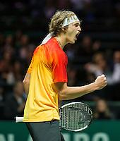 Rotterdam, The Netherlands, February 12, 2016,  ABNAMROWTT, Alexander Zverev (GER)<br /> Photo: Tennisimages/Henk Koster