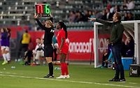 CARSON, CA - FEBRUARY 07: Deanne Rose #6 and coach Kenneth Heiner-Møller of Canada, during a game between Canada and Costa Rica at Dignity Health Sports Complex on February 07, 2020 in Carson, California.