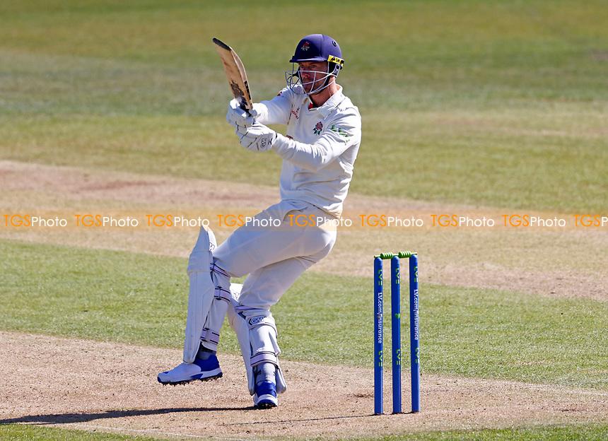Dane Vilas bats for Lancashire during Kent CCC vs Lancashire CCC, LV Insurance County Championship Group 3 Cricket at The Spitfire Ground on 22nd April 2021