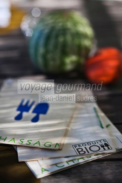 Europe/France/Provence-Alpes-Côte d'Azur/13/Bouches-du-Rhône/Env d'Arles/Le Sambuc: Restaurant Bio: La Chassagnette qui posséde son propre potager biologique