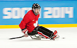 Sochi, RUSSIA - Mar 2 2014 -  Billy Bridges during practice before the 2014 Paralympics in Sochi, Russia.  (Photo: Matthew Murnaghan/Canadian Paralympic Committee)