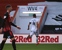 31st October 2020; Vitality Stadium, Bournemouth, Dorset, England; English Football League Championship Football, Bournemouth Athletic versus Derby County; GraemeShinnie of Derby County celebrates scoring in 14th minute 0-1