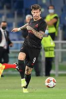 30th September 2021;  Stadio Olimpico, Rome, Italy;Europa League Football, SS Lazio versus Lokomotiv Moscow: Fedor Smolov of FC Lokomotiv Moskva