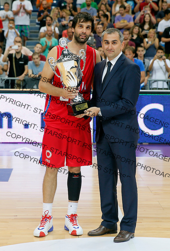 Milos Teodosic ACIBADEM Srbija - Rusija prijateljska utakmica, Serbia - Russia friendly basketball game EUROBASKET 2015, 16.8.2015.<br /> 16. Avgust  2015. (credit image & photo: Pedja Milosavljevic / STARSPORT)