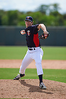 Minnesota Twins pitcher John Curtiss (45) during an instructional league game against the Boston Red Sox on September 26, 2015 at CenturyLink Sports Complex in Fort Myers, Florida.  (Mike Janes/Four Seam Images)