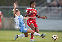 Boyds, MD - Saturday April 29, 2017: Camille Levin, Francisca Ordega during a regular season National Women's Soccer League (NWSL) match between the Washington Spirit and the Houston Dash at Maureen Hendricks Field, Maryland SoccerPlex.