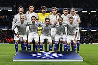 The Dynamo Kyiv team ahead of the UEFA Champions League Group match between Chelsea and Dynamo Kyiv at Stamford Bridge, London, England on 4 November 2015. Photo by David Horn.