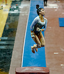 February 19, 2021: North Carolina's Brianna Greenlow competes in the vault during the 2nd Annual George McGinty Alumni Meet at the SECU Arena at Towson University in Towson, Maryland. Scott Serio/Eclipse Sportswire/CSM