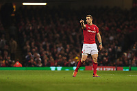 Pictured: George North of Wales in action during the Guinness six nations match between Wales and England at the Principality Stadium, Cardiff, Wales, UK.<br /> Saturday 23 February 2019