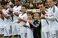 Pictured: (L-R) Neil Taylor, Ashley Williams, Leon Britton, Scott Sinclair and Mark Gower of Swansea City. Saturday 17 September 2011<br /> Re: Premiership football Swansea City FC v West Bromwich Albion at the Liberty Stadium, south Wales.