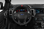 Car pictures of steering wheel view of a 2019 Ford Ranger-Raptor - 4 Door Pick-up Steering Wheel