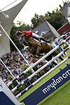 August 07, 2009: Peter Postelmans (BEL) aboard Top Gun. Meydan FEI Nations Cup. Failte Ireland Horse Show. The RDS, Dublin, Ireland.