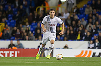 Kevin Wimmer of Tottenham Hotspur heads forward during the UEFA Europa League match between Tottenham Hotspur and Qarabag FK at White Hart Lane, London, England on 17 September 2015. Photo by Andy Rowland.