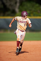 Boston College Eagles shortstop Johnny Adams (8) running the bases during a game against the Central Michigan Chippewas on March 3, 2017 at North Charlotte Regional Park in Port Charlotte, Florida.  Boston College defeated Central Michigan 5-4.  (Mike Janes/Four Seam Images)