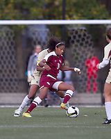 Florida State midfielder Casey Short (3) works agains BC defender. Florida State University defeated Boston College, 1-0, at Newton Soccer Field, Newton, MA on October 31, 2010.
