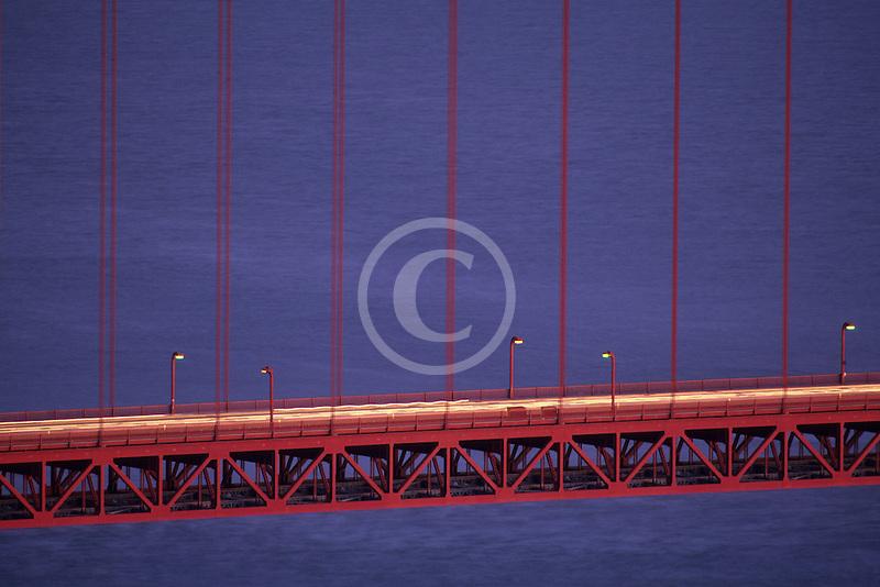 California, San Francisco, Golden Gate Bridge at night