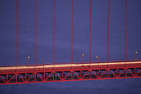 California, San Francisco, Golden Gate Bridge at night