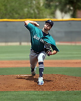 Connor Phillips - Seattle Mariners 2021 spring training (Bill Mitchell)