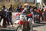 CROWD WATCHES MOTOR BIKE RACE