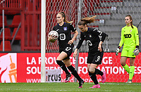 Tessa Wullaert (27) of Anderlecht pictured celebrating after scoring a goal during a female soccer game between Standard Femina de Liege and RSC Anderlecht on the 8th matchday in play off 1 of the 2020 - 2021 season of Belgian Scooore Womens Super League , tuesday 18 th of May 2021  in Angleur , Belgium . PHOTO SPORTPIX.BE | SPP | DAVID CATRY