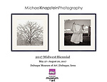 """""""Blizzard Oak"""" and """"Clothesline"""" by Michael Knapstein were chosen for a Midwest Biennial exhibition at the Dubuque Museum of Art in Dubuque, Iowa."""