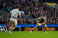Ben Botica of Harlequins in action during the Aviva Premiership match between Harlequins and London Irish at Twickenham on Saturday 29th December 2012 (Photo by Rob Munro).