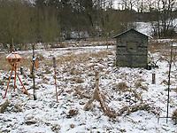 Tarnhütte, Tarnversteck, Vögel bei der Winterfütterung, Vogelfütterung, Fütterung im Winter, Vogelfotografie, Vogel-Fotografie