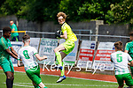 Kerry keeper Shay O'Meara gathers an inbound shot from a Cabinteely attack in the U17 League of Ireland