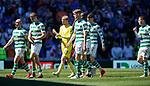 12.05.2019 Rangers v Celtic: Celtic troop off at full time