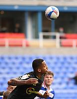 3rd October 2020; Madejski Stadium, Reading, Berkshire, England; English Football League Championship Football, Reading versus Watford; Joao Pedro of Watford's header goes wide of goal