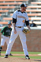 Nick Blunt #41 of the Tennessee Volunteers pears in for the catchers call at Lindsey Nelson Stadium against the the Manhattan Jaspers on March 12, 2011 in Knoxville, Tennessee.  Tennessee won the first game of the double header 11-5.  Photo by Tony Farlow / Four Seam Images..