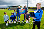 Keel GAA Coiste na nÓg launching their community bingo at the club on Monday evening and it's been held online on Friday 4th June at 8pm. Foreground: Sean O'Dowd. Kneeling l to r: Kian and Oisin O'Dowd, Jessie O'Reilly and Matt Murphy. Back l to r: Padraig O'Dowd, PJ Ryan (Keel Coiste na nÓg Chairman) and John Ladden (Keel GAA Chairman)