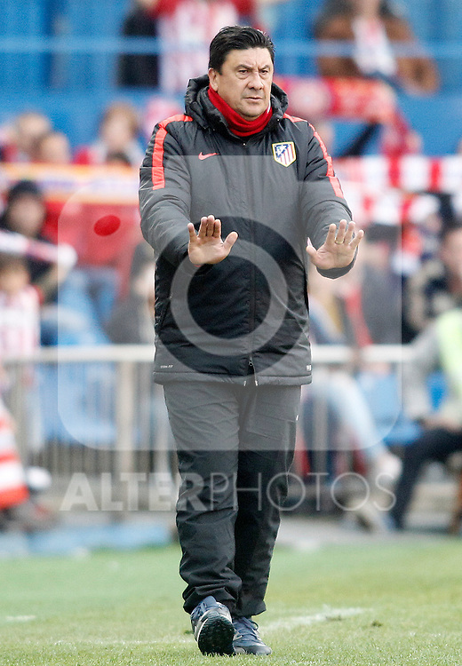 Atletico de Madrid's second coach German Mono Burgos during La Liga match. April 23,2016. (ALTERPHOTOS/Acero)