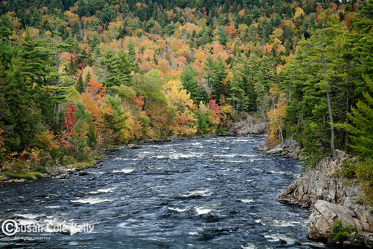 Big Amberjackmockamus Falls on the West Branch of the Penobscot River, Piscataquis County, ME, USA