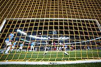BRONX, NY - Wednesday September 16, 2015: New York City FC defeats Toronto FC 2-0 at home at Yankee Stadium during the 2015 MLS regular season.