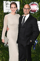 Felicity Blunt and Stanley Tucci<br /> arrives for the One for the Boys charity fashion event at the V&A Museum, London.<br /> <br /> <br /> ©Ash Knotek  D3133  12/06/2016