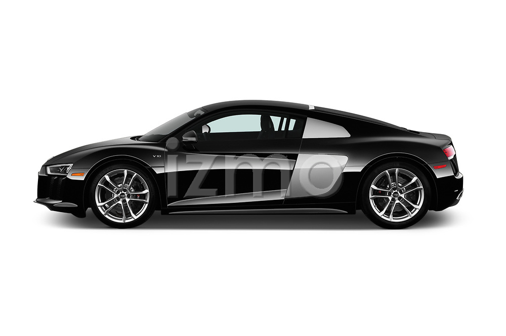 Car driver side profile view of a 2017 Audi R8 quattro 2 Door Coupe
