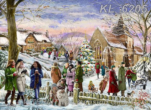 Interlitho-Franco, CHRISTMAS LANDSCAPES, WEIHNACHTEN WINTERLANDSCHAFTEN, NAVIDAD PAISAJES DE INVIERNO, paintings+++++,santa village,KL6205,#xl#