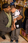 Preschool New York City 4 year old separation from father at drop off in morning vertical
