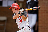 Matt Wessinger #0 of the St. John's Red Storm follows through on his swing against the VCU Rams at the Charlottesville Regional of the 2010 College World Series at Davenport Field on June 5, 2010, in Charlottesville, Virginia.  The Red Storm defeated the Rams 8-6.  Photo by Brian Westerholt / Four Seam Images