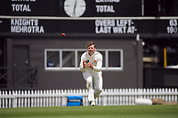 Michael Bracewell prepares to bowl during day four of the Plunket Shield match between the Wellington Firebirds and Auckland Aces at the Basin Reserve in Wellington, New Zealand on Tuesday, 17 November 2020. Photo: Dave Lintott / lintottphoto.co.nz