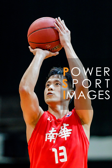 Chan Cheung Man #13 of SCAA Men's Basketball Team concentrates prior to a free throw during the Hong Kong Basketball League game between Eastern Long Lions and SCAA at Southorn Stadium on May 29, 2018 in Hong Kong. Photo by Yu Chun Christopher Wong / Power Sport Images