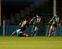 9th September 2020; Twickenham Stoop, London, England; Gallagher Premiership Rugby, London Irish versus Harlequins; Marcus Smith of Harlequins goes over for a try