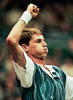 1995, ABNAMROWTT, Haarhuis verslaat Kafelnikov