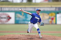 Memphis Tigers pitcher Blake Wimberley (23) during a game against the East Carolina Pirates on May 28, 2021 at BayCare Ballpark in Clearwater, Florida.  (Nathan Ray/Four Seam Images)